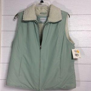 NWT Sonoma Fleece Lined Sage Green Vest